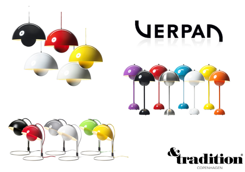 Verner Panton Flowerpot pendel og bordlampe And Tradition